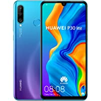 "Huawei P30 Lite Smartphone, Dual-SIM Android Mobile Phone with 6.15"" FHD Dewdrop Display, 6GB RAM+128GB ROM, Peacock Blue"