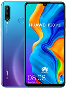 HUAWEI P30 Lite 256 GB 6.15 Inch FHD Dewdrop Display Smartphone with MP AI Ultra-Wide Triple Camera, 6 GB RAM, Android 9.0 Sim-Free Mobile Phone, UK Version, Blue