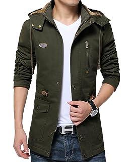 Macondoo Mens Jacket Classic Anorak Outdoor Big and Tall Fleece Parkas Coats