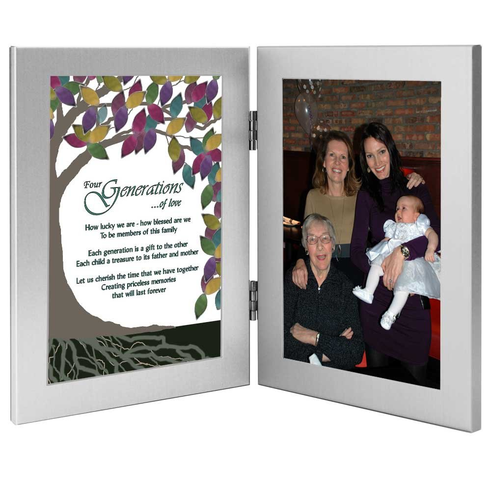 Four Generations Tree of Life Poem - Add Photo to Frame for Great Grandmother/Grandmother/Mom/Child
