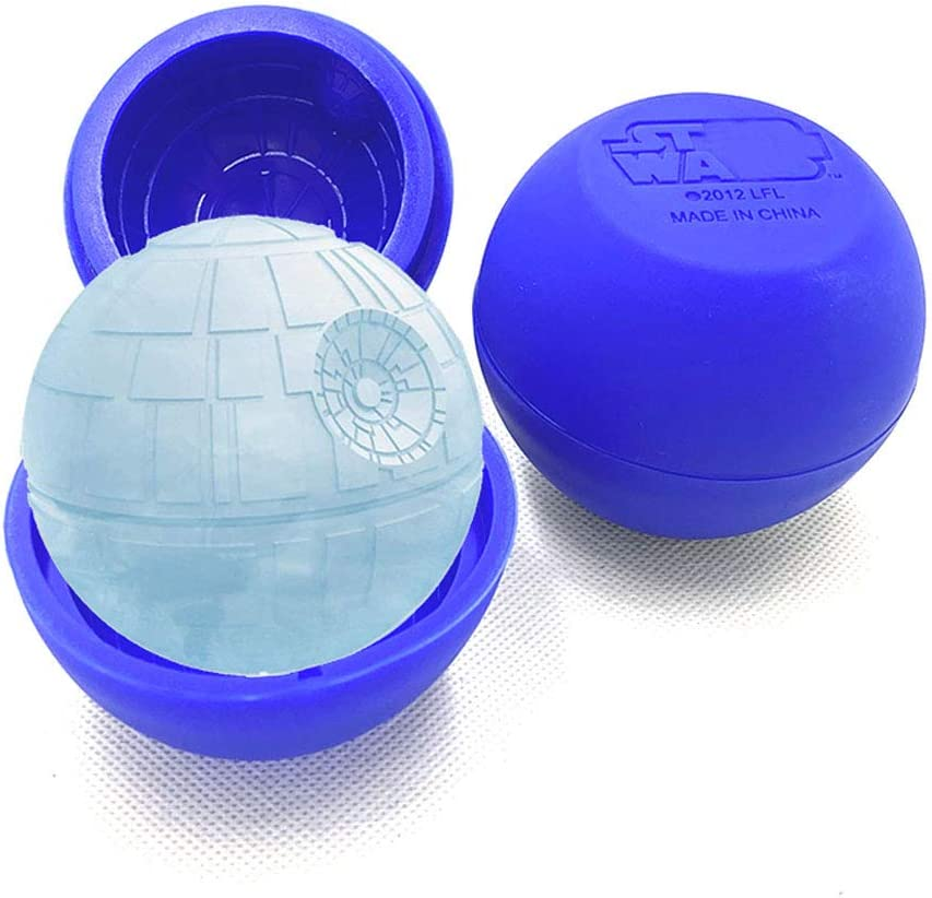 FantasyBear Star War Ice Ball,Silicone Flexible Molds for Star Wars Lovers Robots Birthday Cake Decoration Candy Molds Chocolate Molds Soap Molds Baking Molds Jello Molds (One ice ball)