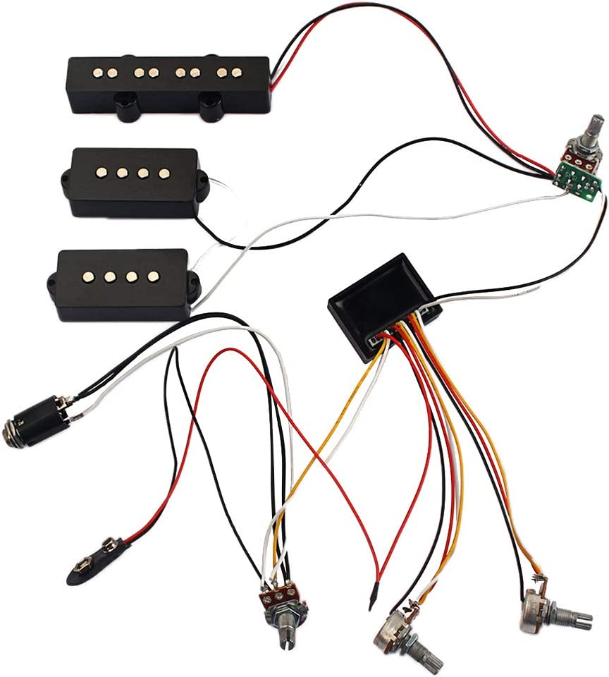 Amazon.com: SUPVOX 3 Band Equalizer EQ Preamp Circuit Bass Guitar Tone  Control Wiring Harness and JP Pickup Set for Active Bass Pickup Parts:  Musical InstrumentsAmazon.com