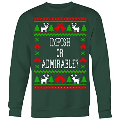 The Office Christmas Sweater.Impish Or Admirable Belsnickel Unisex Ugly Christmas Sweatshirt