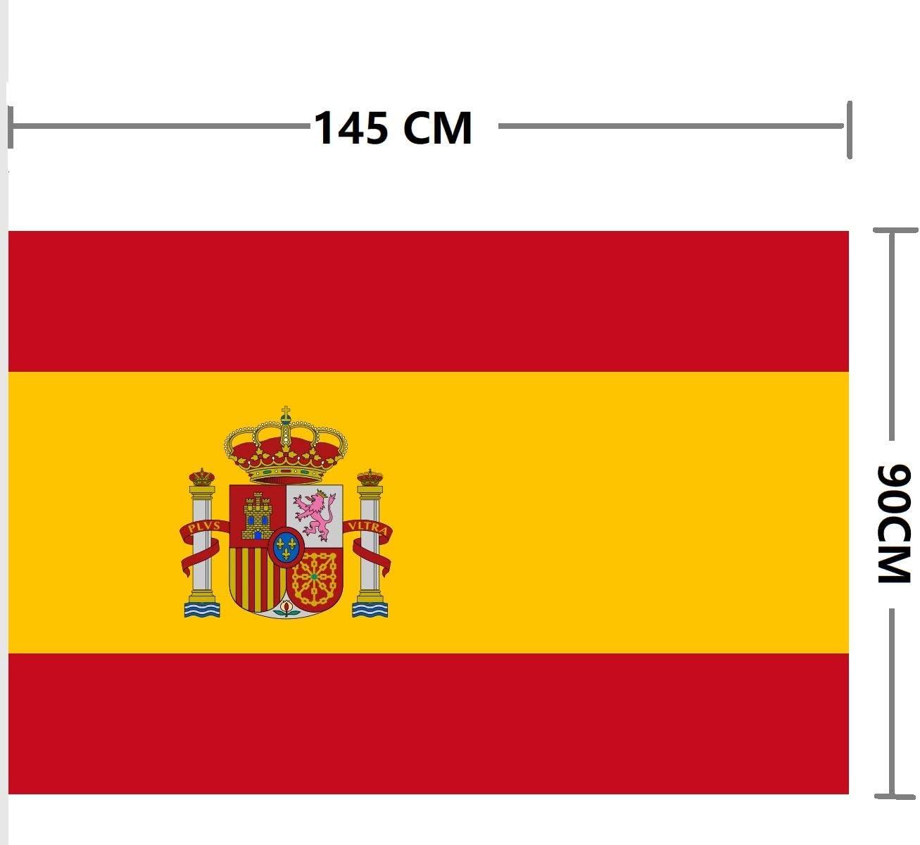Bandera de España (España 150 * 90 cm Polister): Amazon.es: Deportes y aire libre