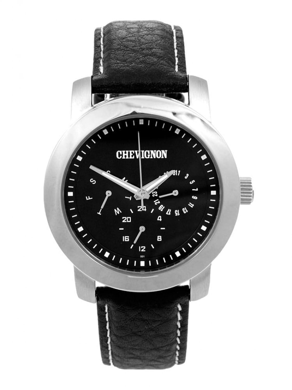 Chevignon Herren-Armbanduhr Analog Quarz Leder 92-0059-501