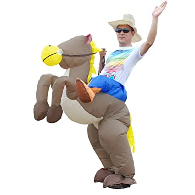 Vantina Inflatable Rider Costume Funny Horse Cowboy Suit Mount For Adult  sc 1 st  Amazon.com : horse cowboy costume  - Germanpascual.Com