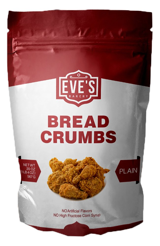 Eves Bakery Plain Bread Crumbs, 20 Ounce, Pack of 3