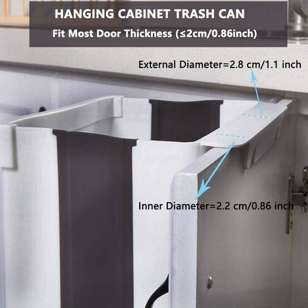 Gran Capacidad de Ahorro de Espacio Soporte de pl/ástico pr/áctico Plegable para Puerta de gabinete de Cocina Ganmaov Contenedor de Basura de Basura Colgante