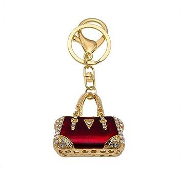 Amazon.com: 1 llavero de metal esmaltado en oro rojo con ...