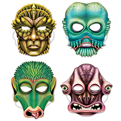 Alien Masks (Elastic Attached) (Alien Child Mask)