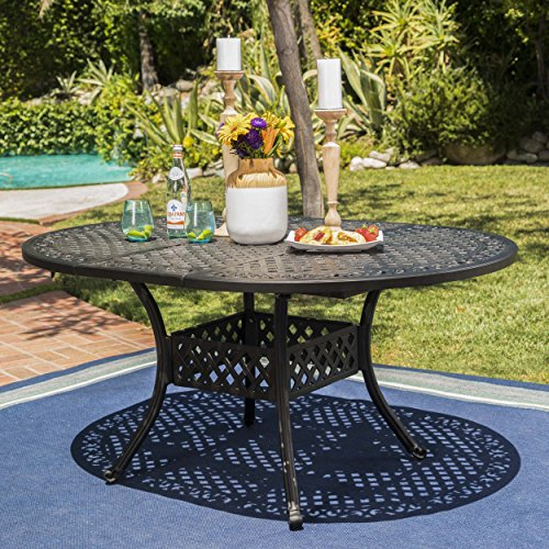 Stannis Outdoor Expandable Aluminum Dining Table (Black Sand) Review
