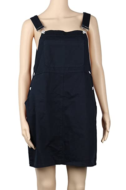 winfunup Womens Denim Bib Overall Dress Plus Size (32W): Amazon.ca ...