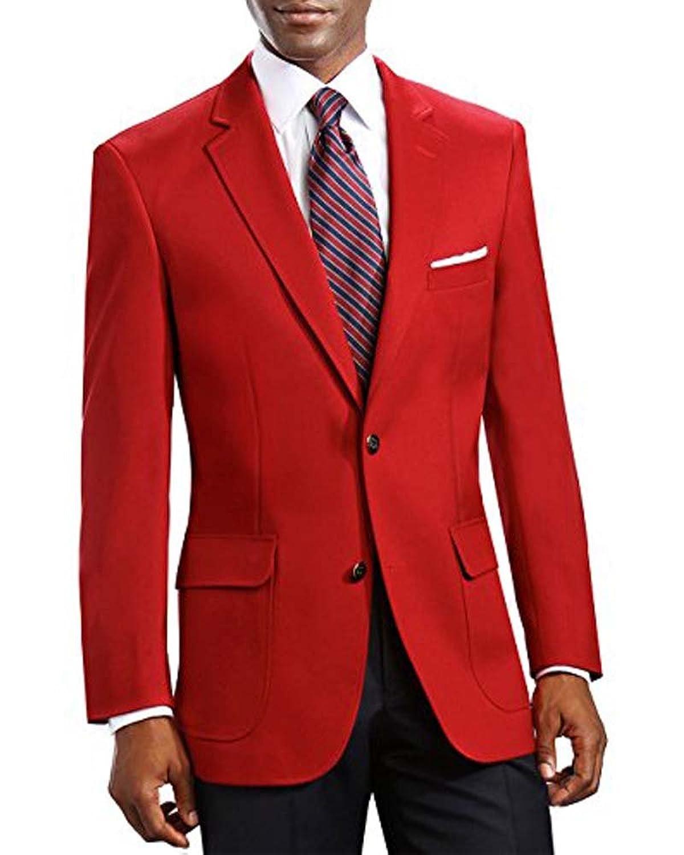 EZ Tuxedo Men's Elegant Classic 2 Button Blazer Sport Jacket - 46 Short for cheap