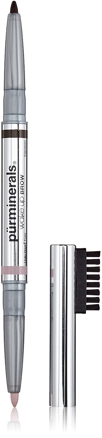 Pur Minerals Wake Up Brow Dual-Ended Brow Pencil, Expresso, 0.01 Ounce 37013400