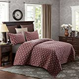 Jml Ultrasonic Quilt Set Twin Size - Brushed Microfiber - 2 Pieces - Soft and Breathable, Lightweight, hypoallergenic and Mite Resistant Printed Bedding Coverlet Set