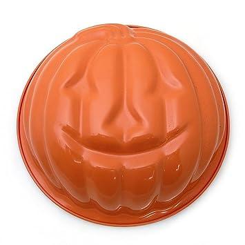 Antiadherente de aluminio fundido naranja esmaltado calabaza moldes de - 11 cm de diámetro: Amazon.es: Hogar