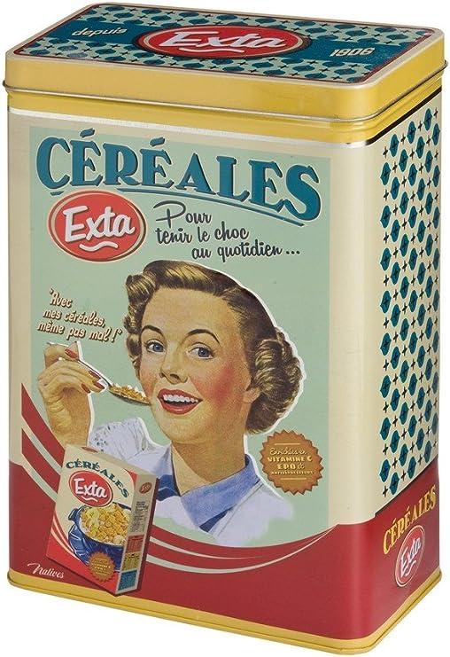 Natives 510210 Exta Caja para Cereal Metal 17 x 10 x 25 cm, Multicolor: Amazon.es: Hogar