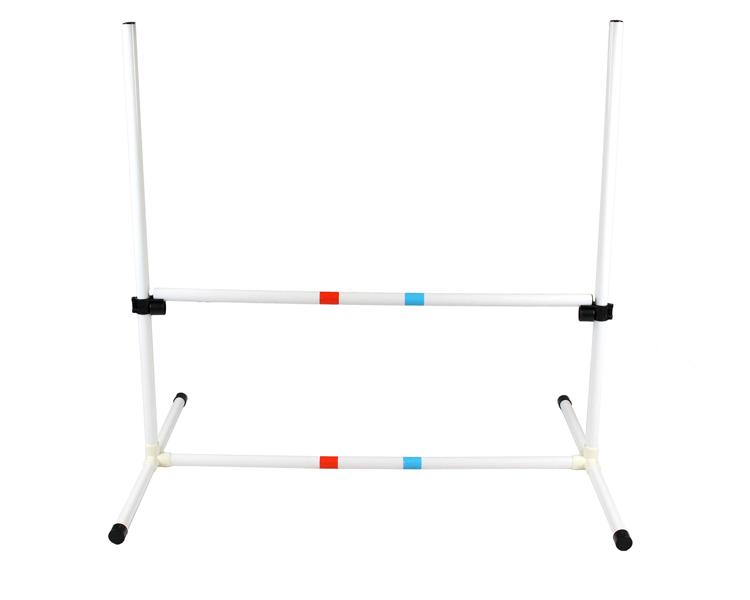 Dog Agility Bar Jump - Training Equipment - Obstacle Course Hurdles for Jumping Practice, Exercise Drills - Adjustable Plastic Frame and Poles with Carrying Bag by Midlee