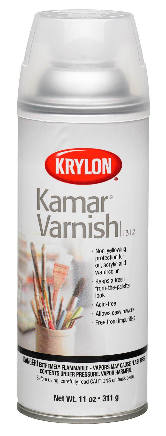 Krylon K01312 11-Ounce Kamar Varnish Aerosol Spray,Matte