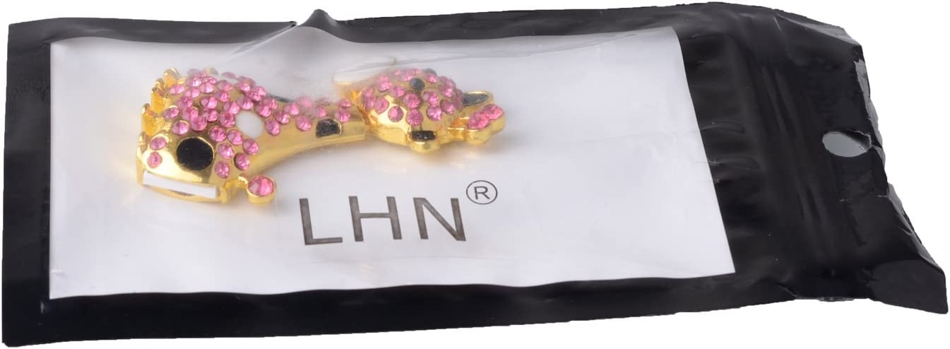 LHN 8GB Crystal Giraffe USB 2.0 Flash Drive with diamonds Pink
