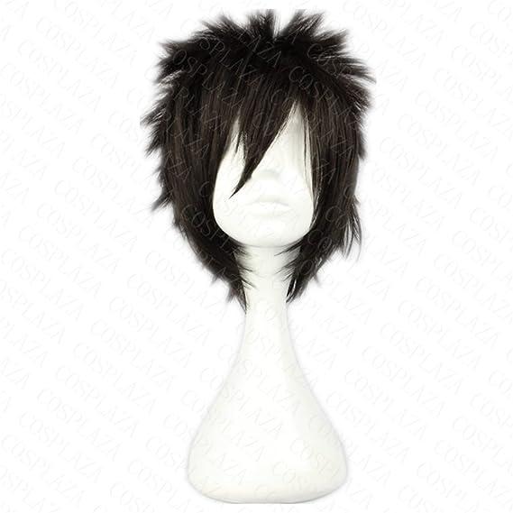 COSPLAZA Anime Cosplay peluca pelo sintético Gray Fullbuster ...
