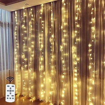 Runacc 9.8 x 9.8Ft Led Fairy Curtain Lights