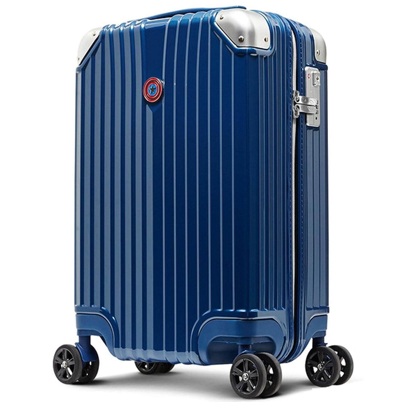 旅のセレクトショップ! スーツケース キャリーケース マーベル CAPTAINAMERICA キャプテンアメリカ 青 ブランド 軽量 TSAロック搭載 1年保証付き ダブルキャスター ジッパータイプ 旅行用品 B076NJ9ZSJ L