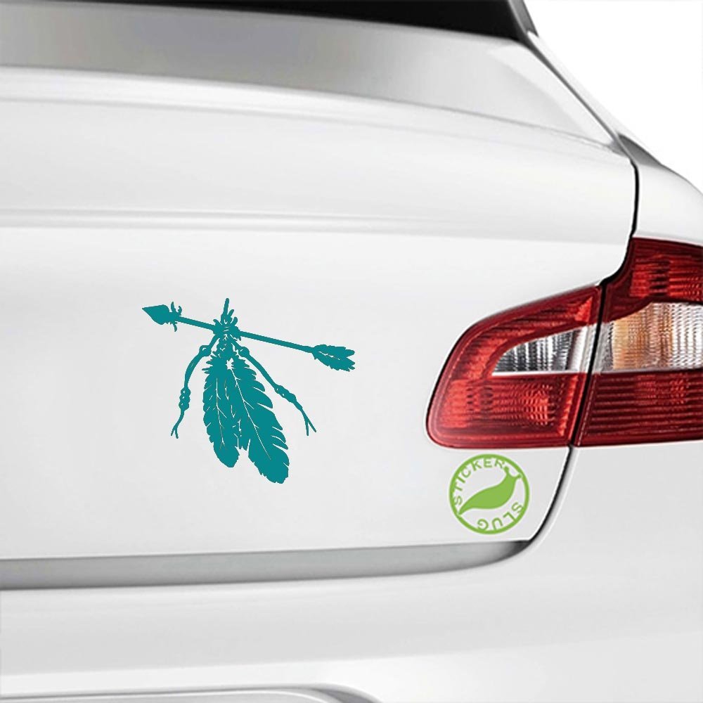 amazon com native american indian feathers decal sticker amazon com native american indian feathers decal sticker charcoal grey 5 inch home kitchen