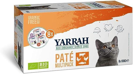 Yarrah Multipack Paté Orgánico para Gatos - 8 x 100 gr - Para Todo ...