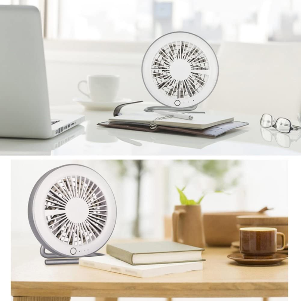 Design : USB charging3 DNXL Mini Fan Creative Mute Portable USB Battery Dual Fan for Student Dormitory//Office//Outdoor Travel