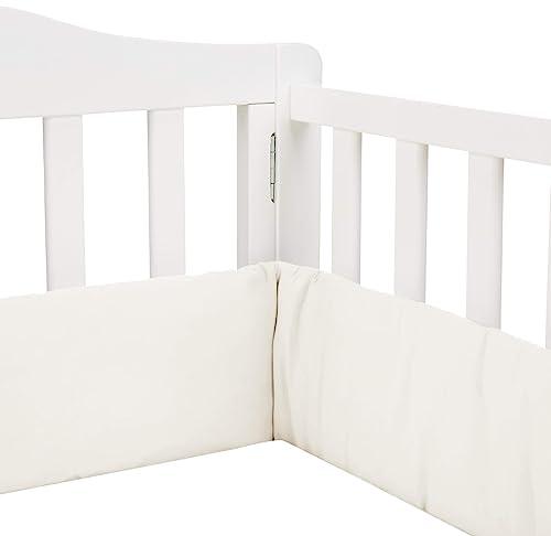 Babykidsbargains Safety Cradle Bumper, Ecru Pique, 18 x 36