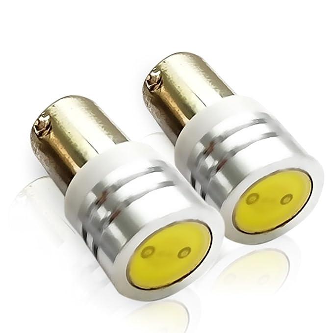 Amazon.com: GENSSI BA9S / BA9 LED Light Bulb 1W Round Base Amber (Pack of 2): Automotive