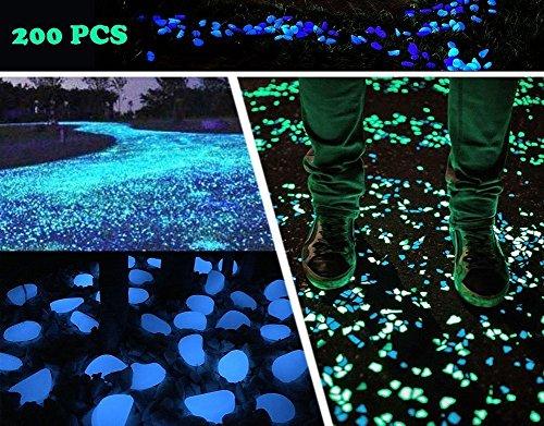 Cheap  Aukora Glow in the Dark Pebbles Stones Outdoor Garden Decor Stone 200pcs..