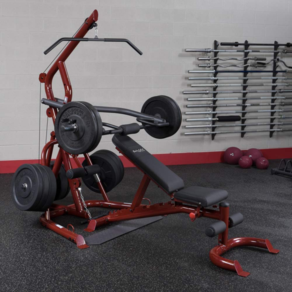 Amazon body solid glgs p corner leverage gym package