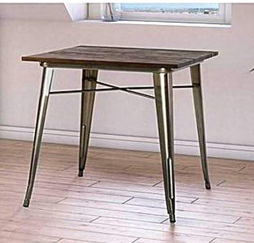 Mesa de comedor BS para espacios pequeños de metal industrial y ...