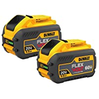 Deals on 2 Pack DeWALT 20-V/60-V 9.0Ah MAX FLEXVOLT Li-Ion Battery