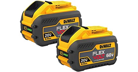 2-Pack DeWalt DCB609-2 FlexVolt 20/60V MAX Li-Ion Battery only $194.16