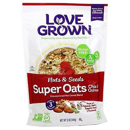 Amor Grown Alimentos, Super Avena, semillas y tuercas de ...