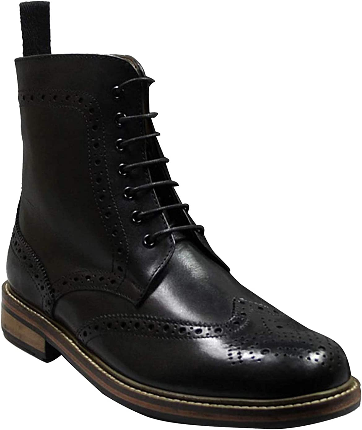 mens black lace up ankle boots