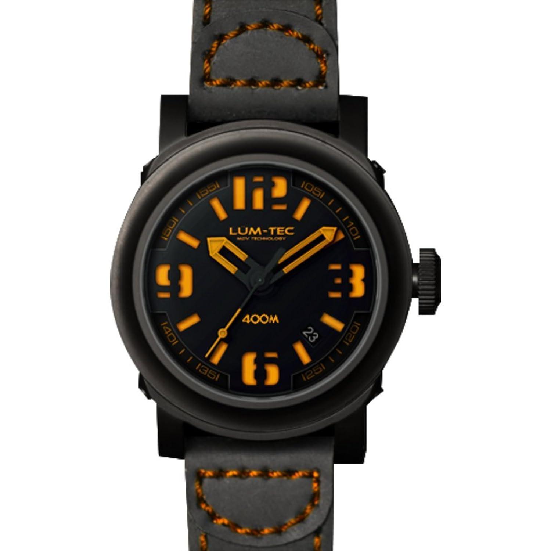 lum-tec 600 bleigeschossen Abyss Armbanduhr - Lederband