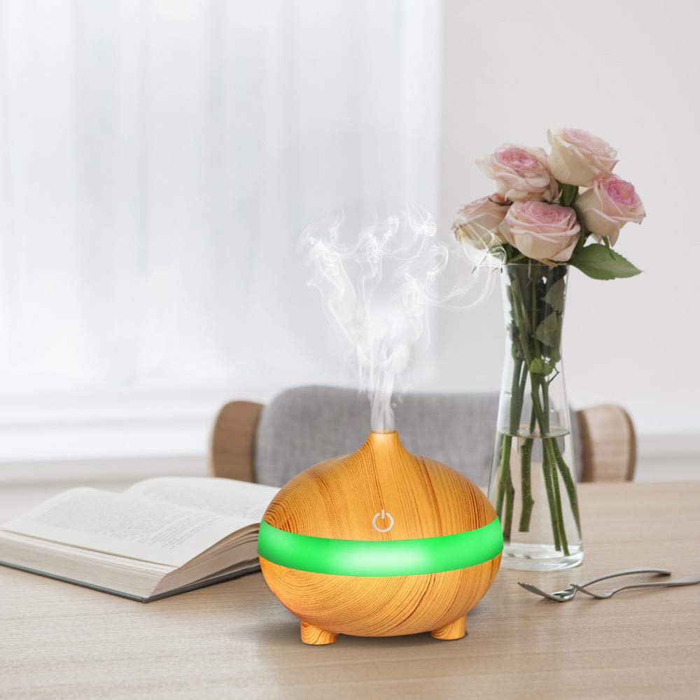 ZahuihuiM Home Indoor USB Air Aroma Diffuseur dhuile Essentielle LED Aroma Ultrasonique Aroma Therapy Humidifier 300 ML