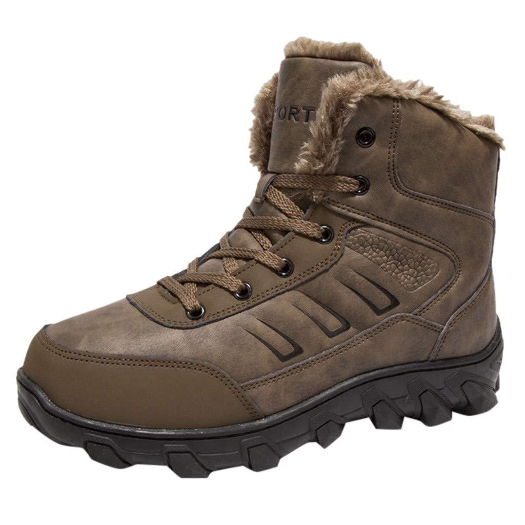 Botte de Neige - Manadlian Chaussures Homme Hiver Chaudes Impermeables Bottines Outdoor Antidérapant Bottes & Bottines