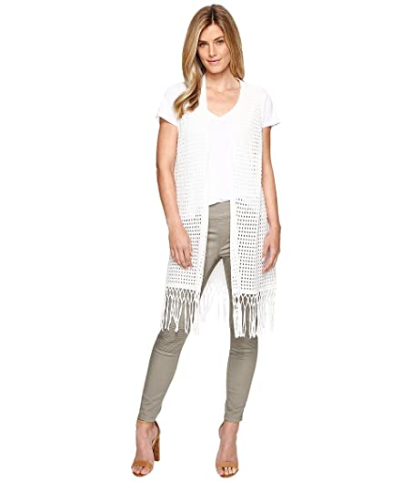 Tribal Womens Cotton Sweater Vest w/ Fringe at Amazon Women's ...