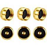 Hooshing Refill 1 LB Propane Bottle Cap Solid Brass 6 Pcs, Gas Tank Cylinder Sealed Caps Protect Caps
