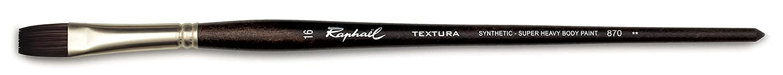 Series 870 Flat Raphael Textura Heavy Duty Synthetic Acrylic /& Thick Medium Brush Size 6
