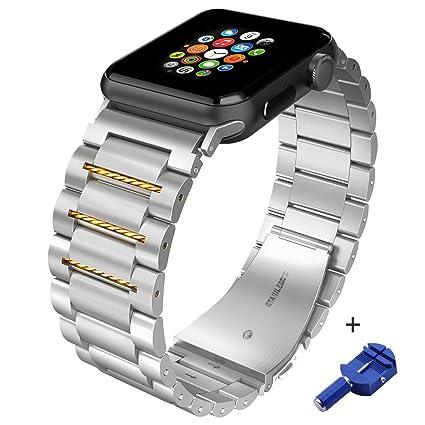 Amazon.com: Correa de acero inoxidable para Apple Watch ...