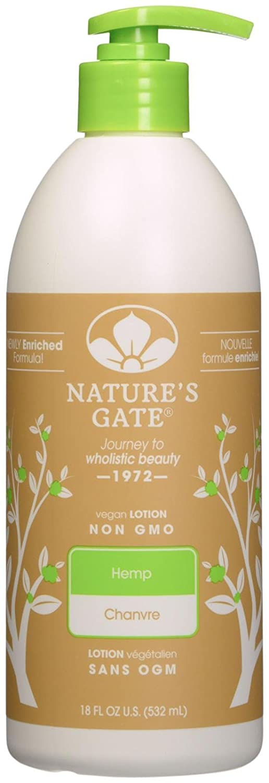 Nature's Gate Hemp Moisturizing Body Lotion for Dry Skin - 18 oz