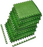 Best Tiles With Borders - Sorbus Grass Mat Interlocking Floor Tiles – Soft Review