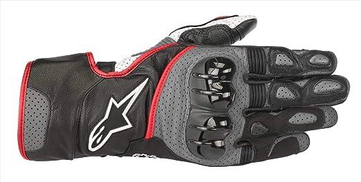 Alpinestars Motorradhandschuhe Sp 2 V2 Gloves Black Gray Red Fluo Schwarz Grau Rot 3xl Auto