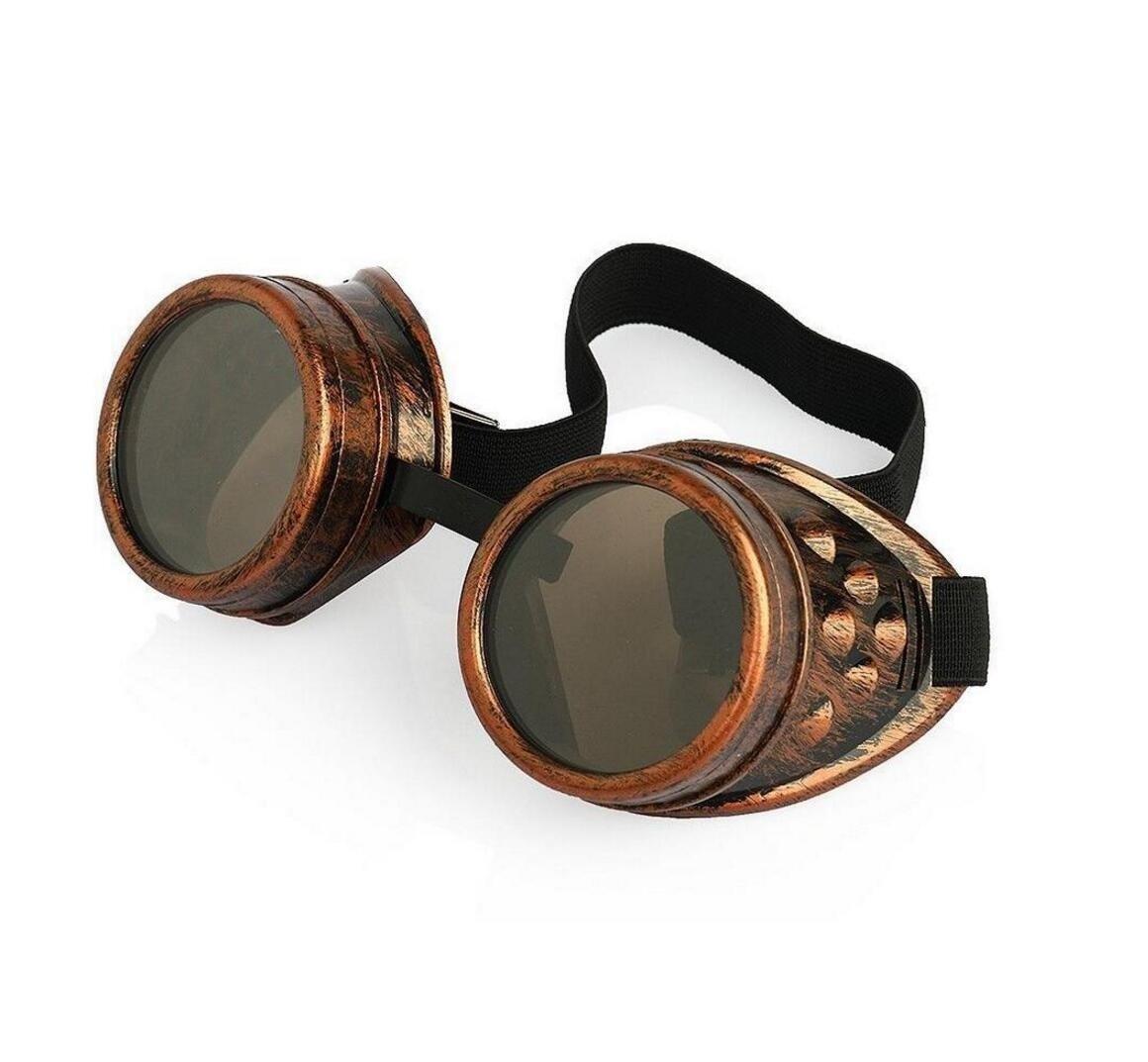 YOIL Retro - Gafas de soldar, color bronce